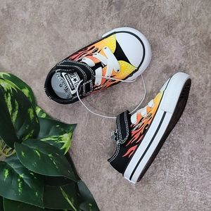 Chuck Taylor All Star Archive Flame Print Low Top Infant Sneakers NEW
